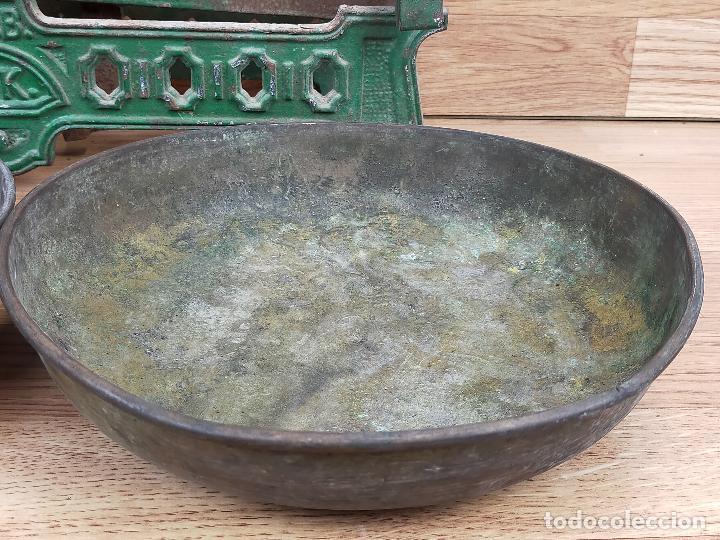 Antigüedades: ANTIGUA BALAZNA CON PLATOS - Foto 6 - 264146780