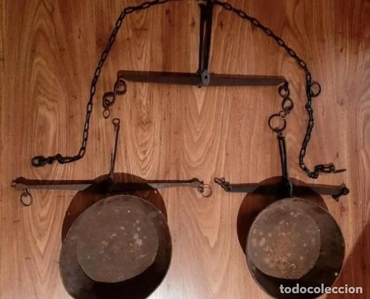 Antigüedades: Básculas de peso y platos - Foto 2 - 264157956
