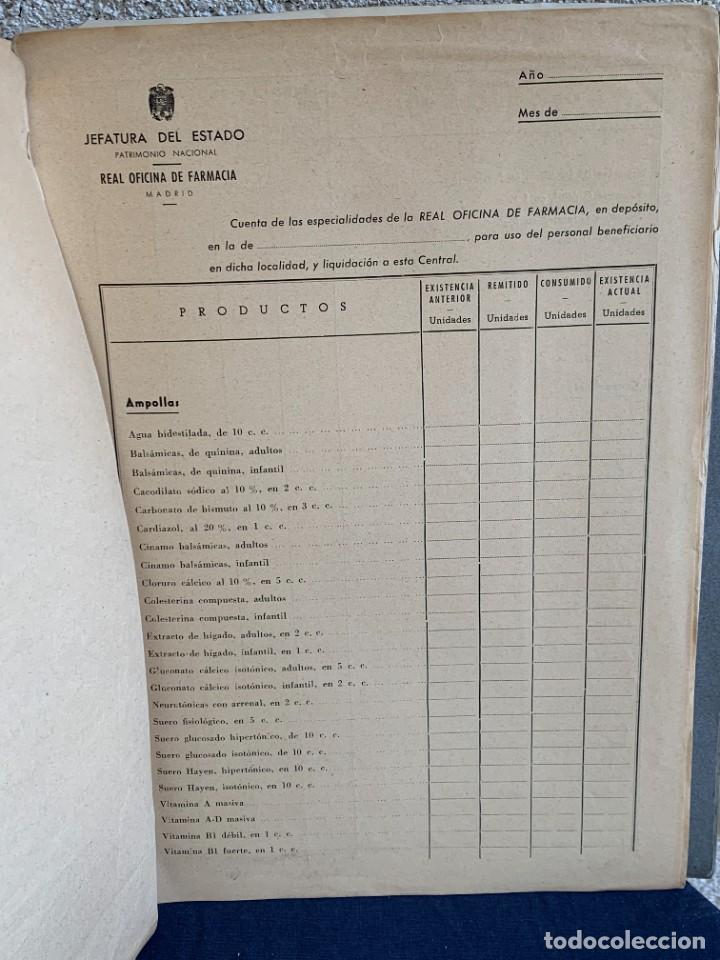 Antigüedades: CUADERNO CARPETA FARMACOS REAL OFICINA FARMACIA ESTUCHES MEDICAMENTOS VENTAS ESTUDIO 1949 33X25CMS - Foto 11 - 264163632