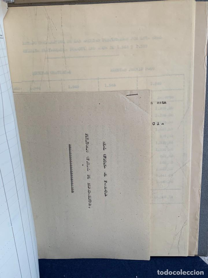 Antigüedades: CUADERNO CARPETA FARMACOS REAL OFICINA FARMACIA ESTUCHES MEDICAMENTOS VENTAS ESTUDIO 1949 33X25CMS - Foto 12 - 264163632