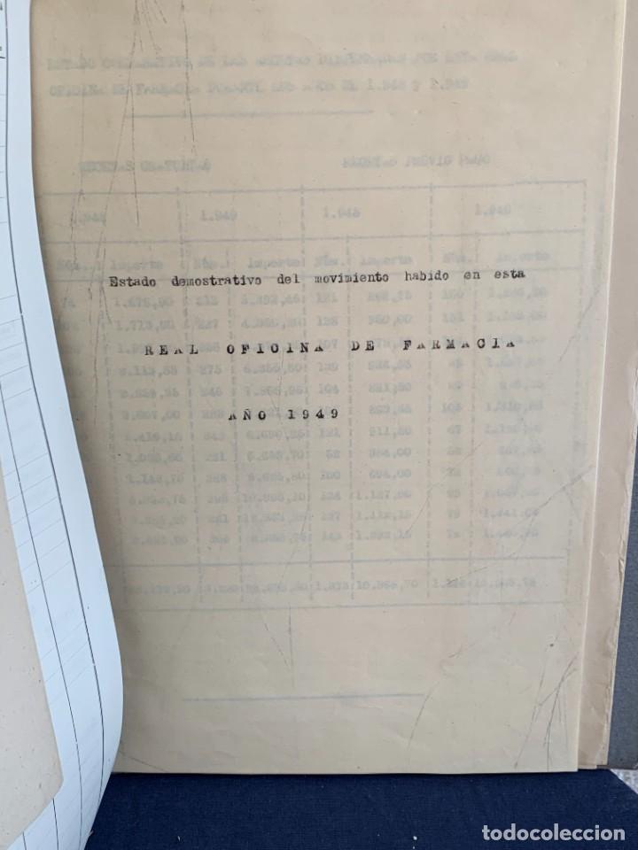 Antigüedades: CUADERNO CARPETA FARMACOS REAL OFICINA FARMACIA ESTUCHES MEDICAMENTOS VENTAS ESTUDIO 1949 33X25CMS - Foto 13 - 264163632