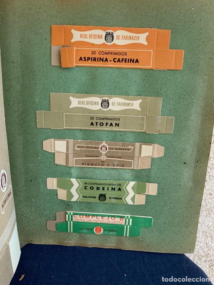 Antigüedades: CUADERNO CARPETA FARMACOS REAL OFICINA FARMACIA ESTUCHES MEDICAMENTOS VENTAS ESTUDIO 1949 33X25CMS - Foto 20 - 264163632