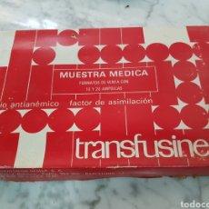Antigüedades: ANTIGUO MEDICAMENTO TRANSFUSINE. Lote 264165532
