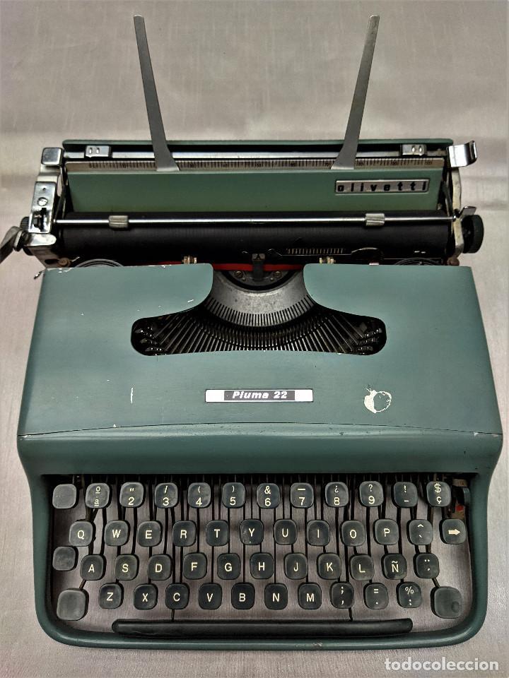 HISPANO OLIVETTI PLUMA 22, AÑOS 50/60 FUNCIONADO (Antigüedades - Técnicas - Máquinas de Escribir Antiguas - Olivetti)