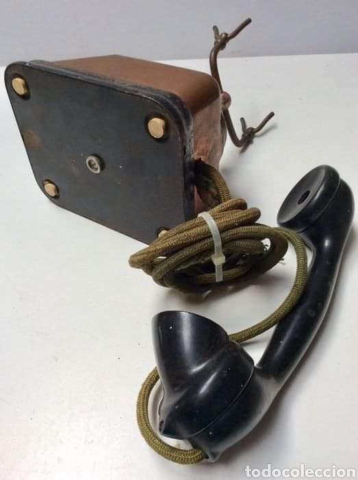 Teléfonos: Antiguo teléfono baquelita y bronce - Foto 2 - 264183376