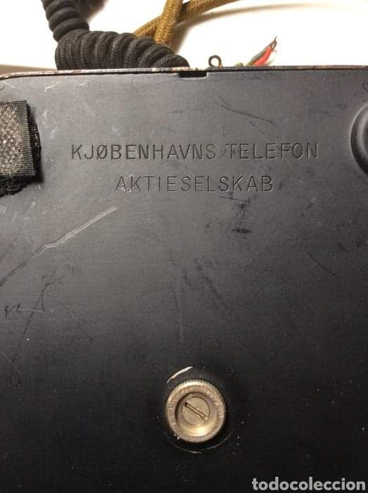 Teléfonos: Antiguo teléfono baquelita y bronce - Foto 5 - 264183376