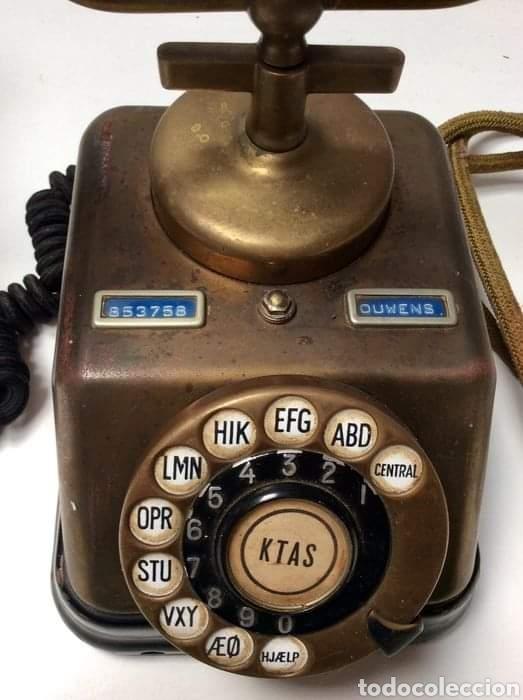 Teléfonos: Antiguo teléfono baquelita y bronce - Foto 6 - 264183376