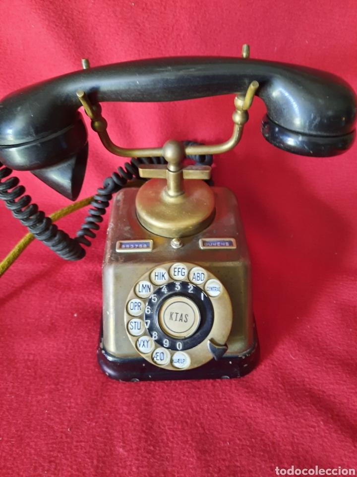 ANTIGUO TELÉFONO BAQUELITA Y BRONCE (Antigüedades - Técnicas - Teléfonos Antiguos)
