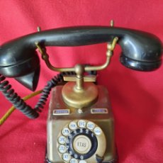 Teléfonos: ANTIGUO TELÉFONO BAQUELITA Y BRONCE. Lote 264183376