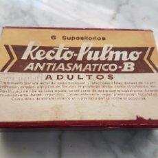 Antigüedades: ANTIGUO MEDICAMENTO RECTO- PULMO ANTIASMATICO. Lote 264230836