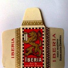 Antigüedades: HOJA DE AFEITAR ANTIGUA,IBERIA Nº5,ACERO AZUL.. Lote 264300308