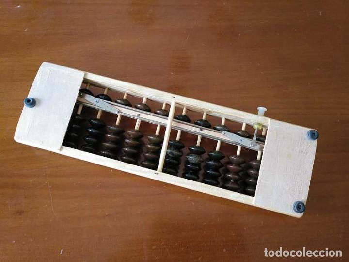 Antigüedades: ABACO JAPONES, SOROBAN DE MADERA Y METAL 12 VARILLAS - CALCULADORA JAPANESE ABACUS - Foto 16 - 264307664