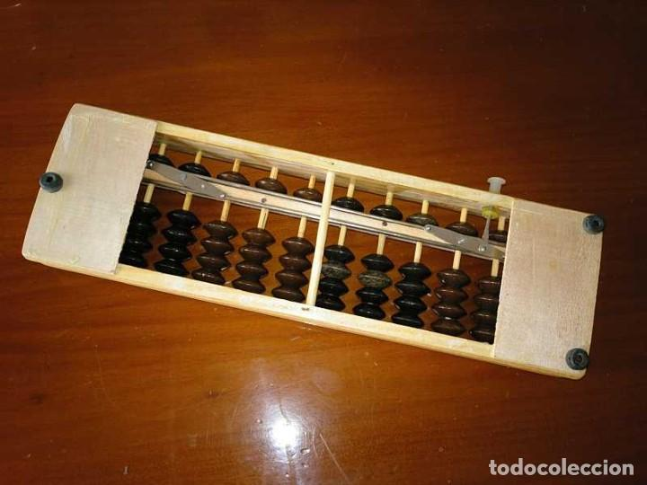 Antigüedades: ABACO JAPONES, SOROBAN DE MADERA Y METAL 12 VARILLAS - CALCULADORA JAPANESE ABACUS - Foto 17 - 264307664