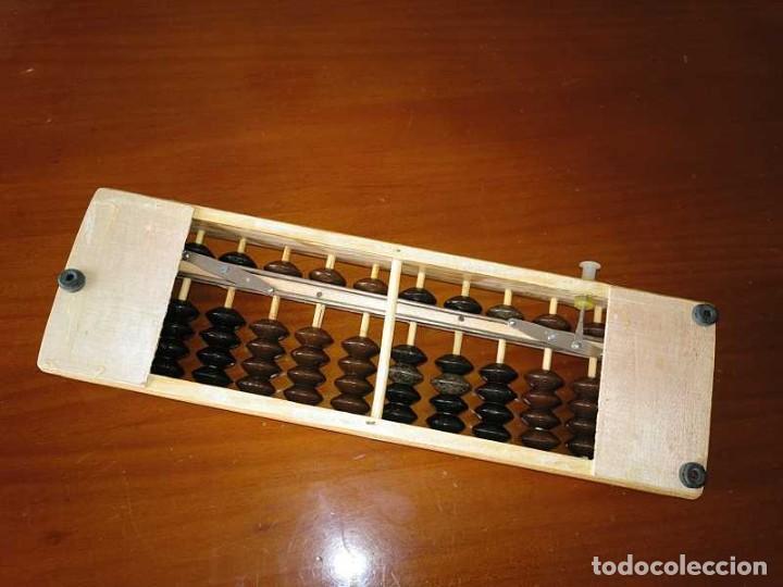 Antigüedades: ABACO JAPONES, SOROBAN DE MADERA Y METAL 12 VARILLAS - CALCULADORA JAPANESE ABACUS - Foto 18 - 264307664