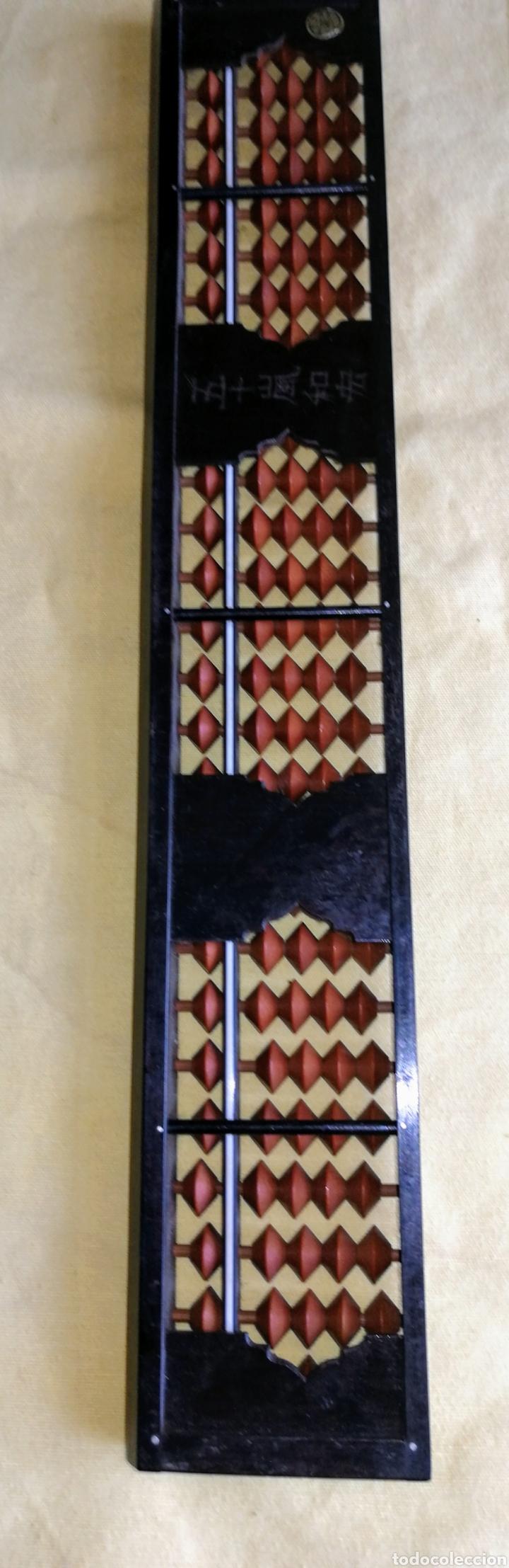 Antigüedades: ABACO JAPONES - SOROBAN - DE BAKELITA CON FIRMA. ENVIO CERTIFICADO INCLUIDO. - Foto 6 - 264352004