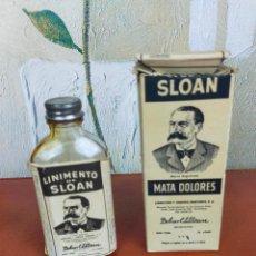 Antigüedades: ANTIGUO MEDICAMENTO LINIMENTO DE SLOAN CON SU CAJA ORIGINAL. Lote 264356454