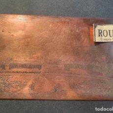 Antigüedades: IMPRENTA - BARCELONA . ANTIGUA PLANCHA GRABADA DE COBRE PARA IMPRIMIR - PALAU DEL PARLAMENT DE CATAL. Lote 264413919