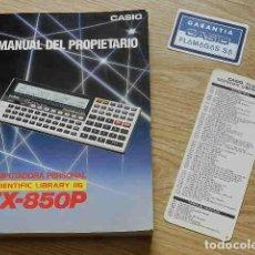 Antiquités: CASIO MANUAL DEL PROPIETARIO. COMPUTADORA PERSONAL SCIENTIFIC LIBRARY 116 FX-850P. Lote 264415104
