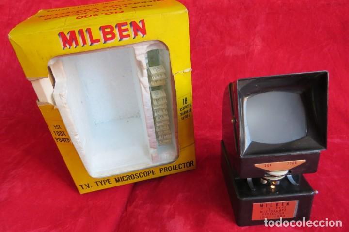 MILBEN - 200 - TV TIPO MICROSCOPIO PROYECTOR - MADE JAPAN (Antigüedades - Técnicas - Instrumentos Ópticos - Microscopios Antiguos)