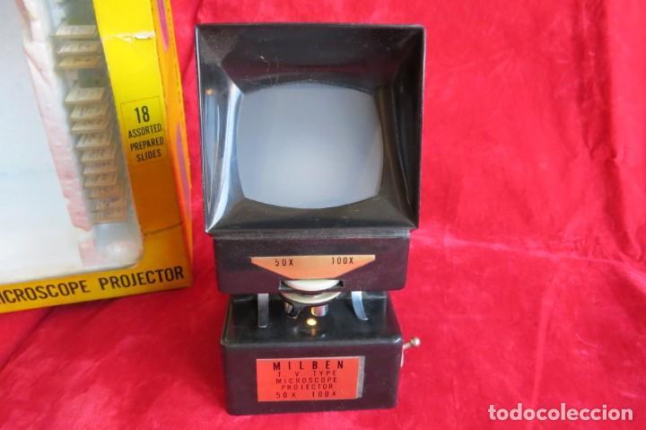 Antigüedades: MILBEN - 200 - TV TIPO MICROSCOPIO PROYECTOR - MADE JAPAN - Foto 2 - 264433104