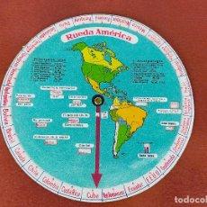 Antigüedades: RUEDA AMERICA, DISCO GEOGRAFICO DE AMERICA. Lote 264534029