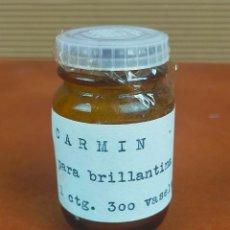 Antigüedades: BOTELLITA MEDICAMENTO FARMACIA CARMIN. Lote 264761564