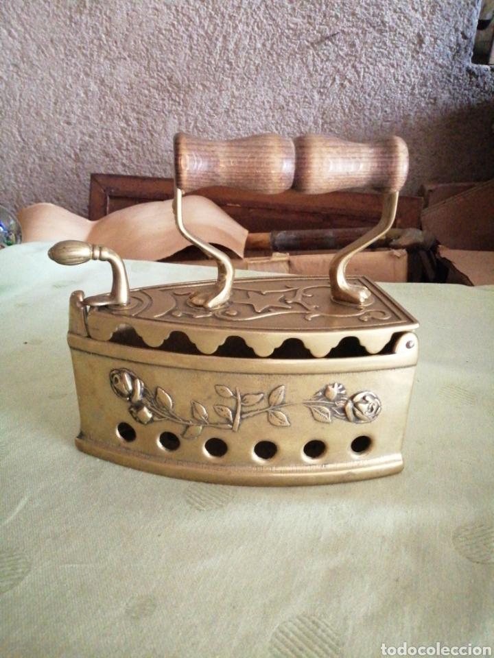 PLANCHA DE BRONCE - CARBÓN (Antigüedades - Técnicas - Planchas Antiguas - Carbón)
