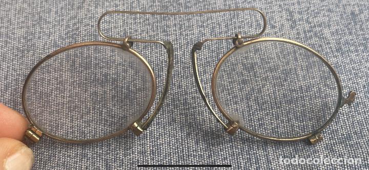 Antigüedades: Antiguas lentes gafas Quevedo sin patillas años 20 ver fotografías - Foto 4 - 265196049