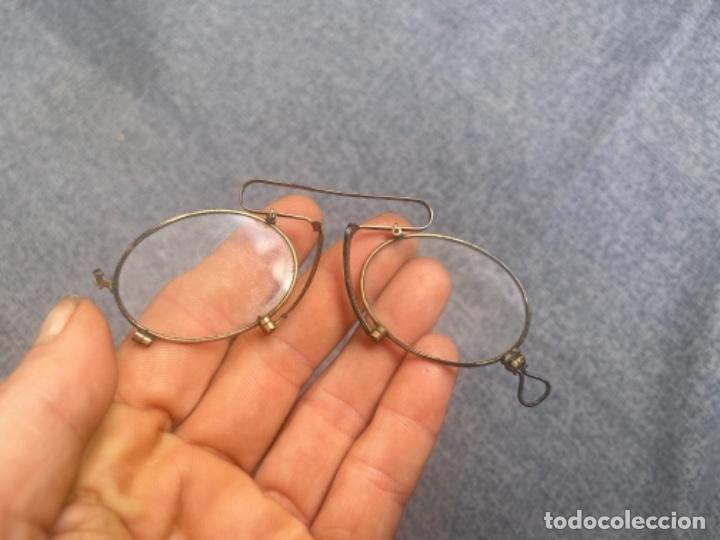 Antigüedades: Antiguas lentes gafas Quevedo sin patillas años 20 ver fotografías - Foto 8 - 265196049
