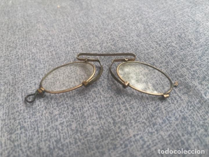 Antigüedades: Antiguas lentes gafas Quevedo sin patillas años 20 ver fotografías - Foto 9 - 265196049