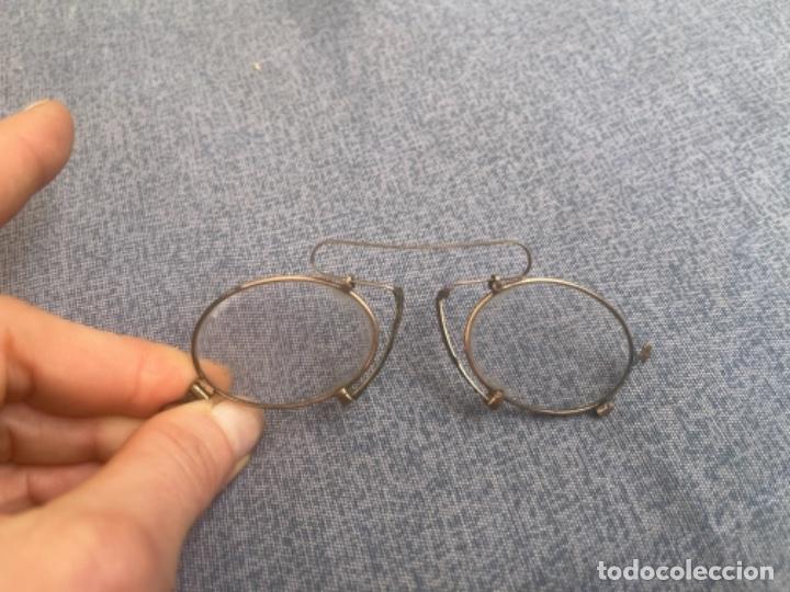 Antigüedades: Antiguas lentes gafas Quevedo sin patillas años 20 ver fotografías - Foto 10 - 265196049