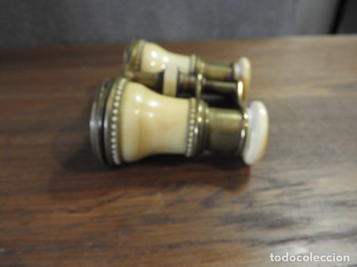 Antigüedades: ANTIGUOS ANTEOJOS PRISMATICOS DE TEATRO DE MARFIL - Foto 5 - 265220914