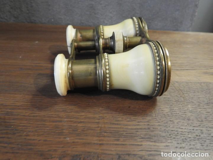 Antigüedades: ANTIGUOS ANTEOJOS PRISMATICOS DE TEATRO DE MARFIL - Foto 6 - 265220914