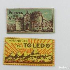 Antiquités: HOJAS DE AFEITAR - CUCHILLAS - AMANECER EN TOLEDO Y PUERTA DE VISAGRA. Lote 265384629