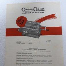 Antiquités: CARTEL PUBLICIDAD ORIGINAL ODHNER. Lote 265455999