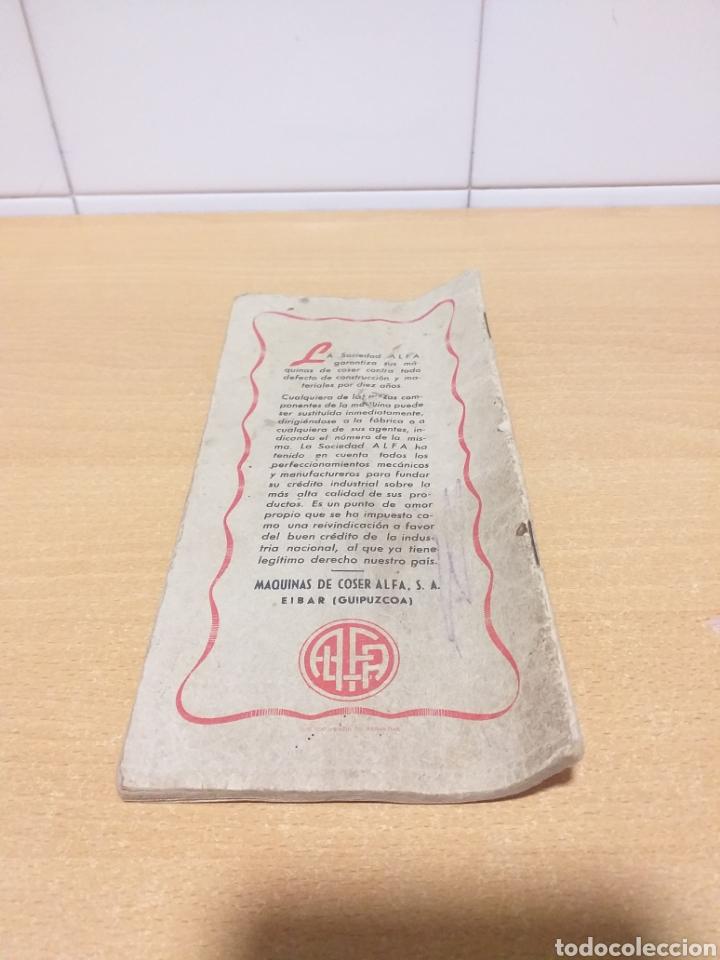 Antigüedades: ALFA antiguas instrucciones máquina coser - Foto 2 - 265554649