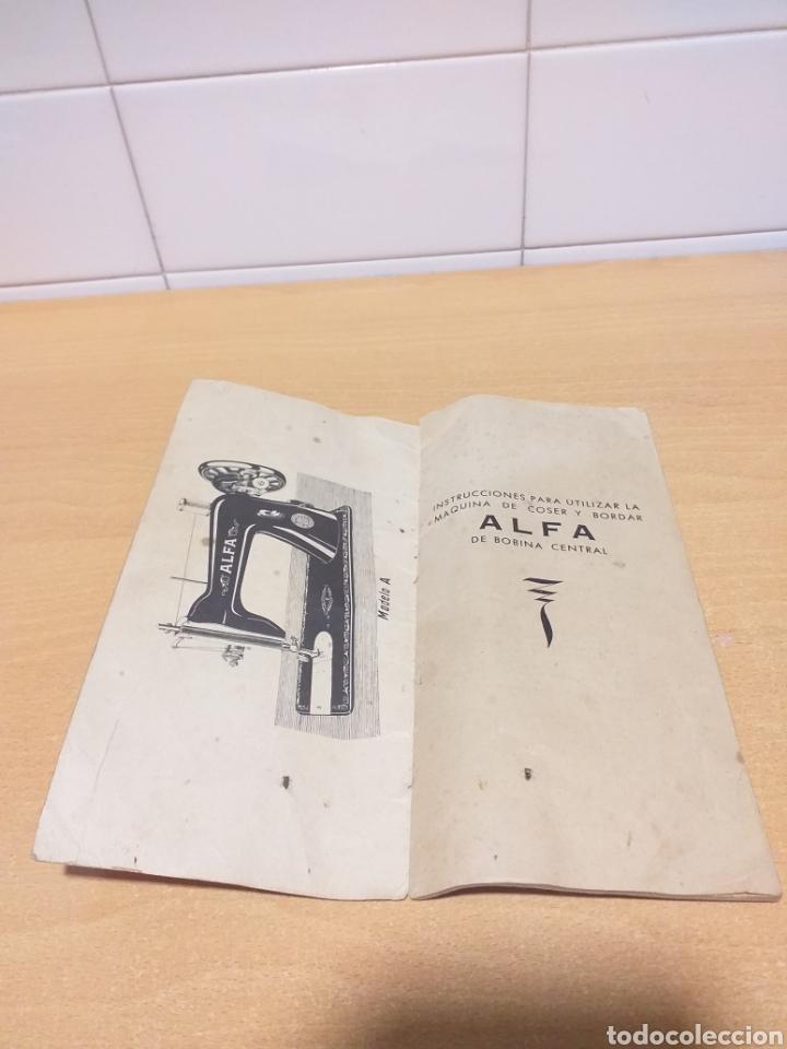Antigüedades: ALFA antiguas instrucciones máquina coser - Foto 3 - 265554649