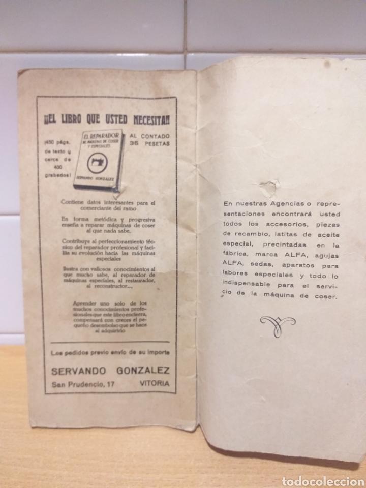 Antigüedades: ALFA antiguas instrucciones máquina coser - Foto 4 - 265554649