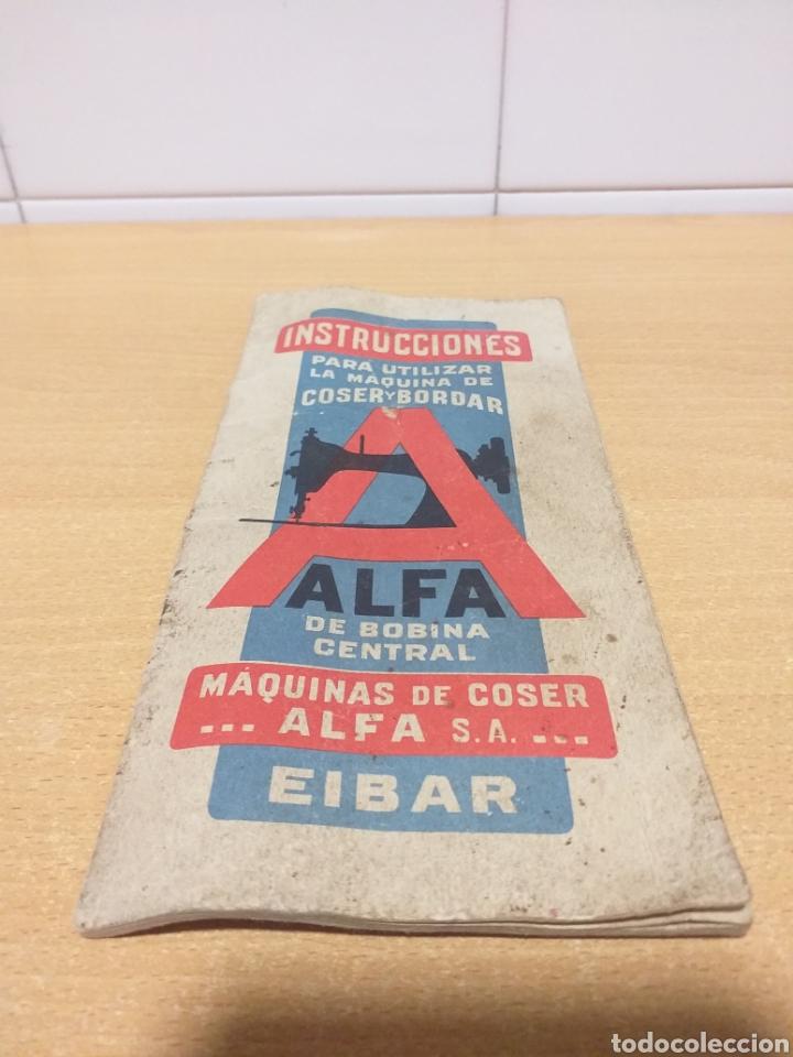 ALFA ANTIGUAS INSTRUCCIONES MÁQUINA COSER (Antigüedades - Técnicas - Máquinas de Coser Antiguas - Alfa)