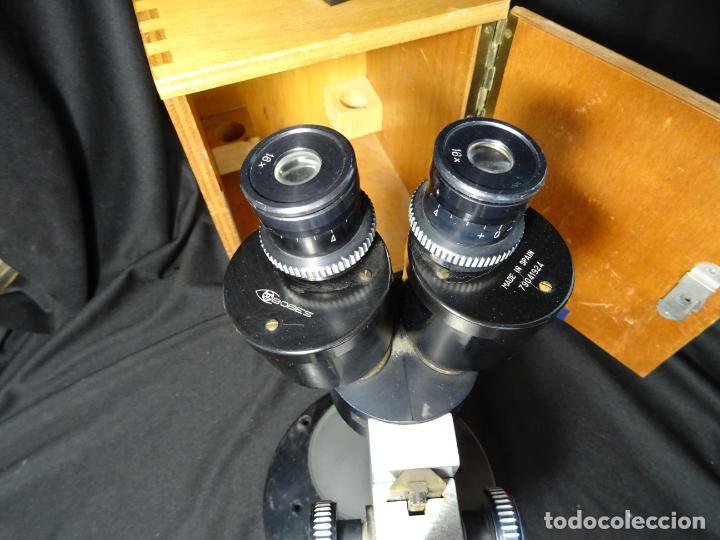 Antigüedades: antigua Lupa binocular española. BOBES, con su caja, microscopio, optica, laboratorio - Foto 6 - 265697449
