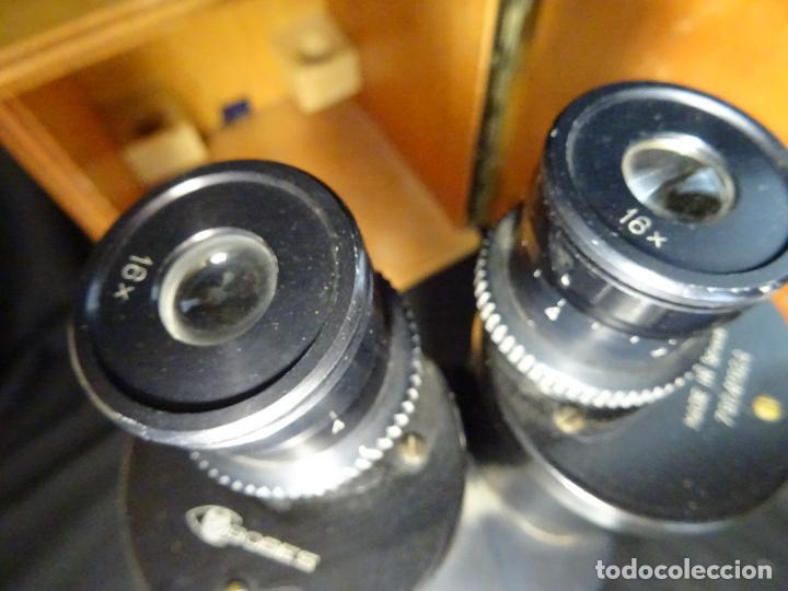 Antigüedades: antigua Lupa binocular española. BOBES, con su caja, microscopio, optica, laboratorio - Foto 8 - 265697449