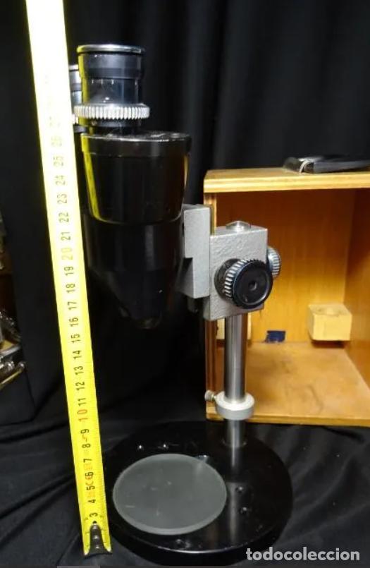 Antigüedades: antigua Lupa binocular española. BOBES, con su caja, microscopio, optica, laboratorio - Foto 16 - 265697449