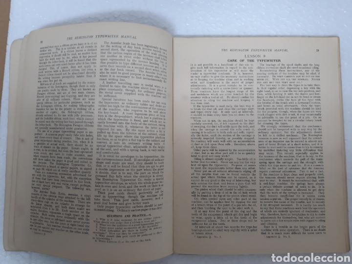 Antigüedades: Manual de maquina Remington 10 y 11 - Foto 8 - 265724329