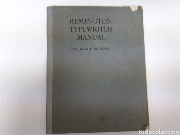 MANUAL DE MAQUINA REMINGTON 10 Y 11 (Antigüedades - Técnicas - Máquinas de Escribir Antiguas - Remington)