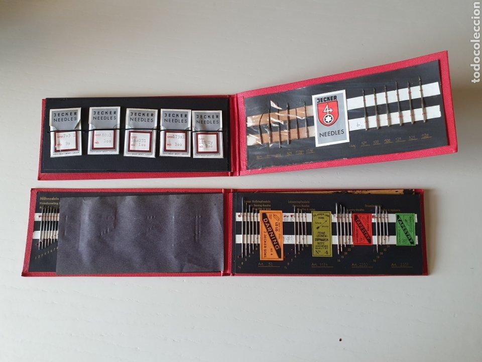 Antigüedades: Antiguos estuches de agujas de coser antiguas manuales y para maquina - Foto 2 - 265807669
