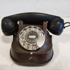 Téléphones: ANTIGUO TELÉFONO VINTAGE RTT 56 B.BELGICA.1957.COBRE. Lote 265854409