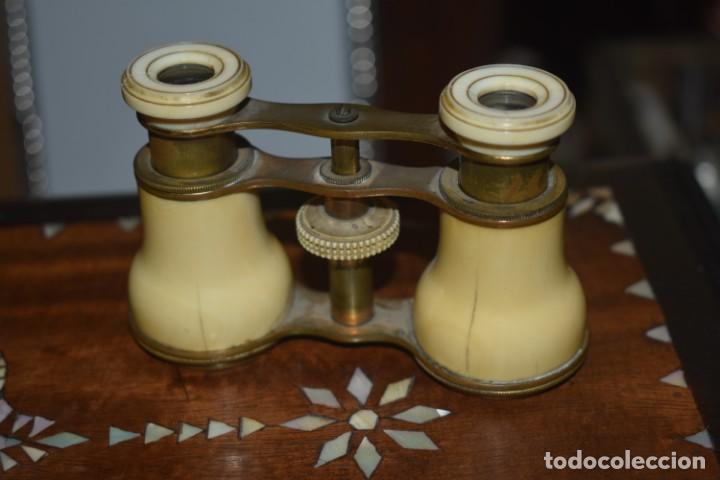 TOMA VISTA PRISMÁTICO ANTIGUOS DE MARFIL SIGLO XIX (Antigüedades - Técnicas - Instrumentos Ópticos - Prismáticos Antiguos)