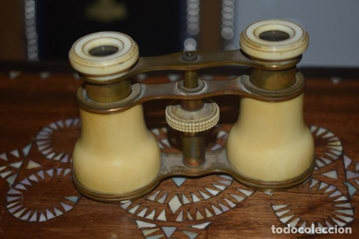 Antigüedades: TOMA VISTA PRISMÁTICO ANTIGUOS DE MARFIL SIGLO XIX - Foto 4 - 266070488