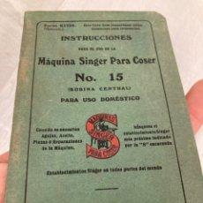 Antiguidades: LIBRITO INSTRUCCIONES SINGER!1926!. Lote 266132598