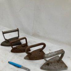 Antiquités: LOTE ANTIGUO DE PLANCHAS DE HIERRO!. Lote 266159153